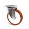 Roulette à platine – 500 à 750 kg - à platine pivotante, 45, 500, 125, 164, 55, 135x110, 11, à billes, 105x80