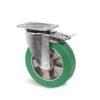 Roulette à platine – 400 à 800 kg - à platine pivotante à double blocage, 50, 400, 125, 164, 55, 135x110, 11, à billes, 105x80