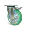 Roulette à platine – 400 à 750 kg - à platine pivotante à double blocage, 50, 400, 125, 164, 55, 135x110, 11, à billes, 105x80