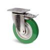 Roulette à platine – 350 à 750 kg - à platine pivotante à double blocage, 38, 350, 125, 164, 55, 135x110, 11, à billes, 105x80