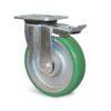 Roulette à platine – 550 à 750 kg - à platine pivotante à double blocage, 50, 550, 160, 199, 55, 135x110, 11, à billes, 105x80
