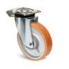 Roulette à platine – 1000 kg - à platine pivotante à double blocage, 50, 1000, 200, 250, 60, 135x110, 11, à billes, 105x80