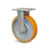 Roulette à platine – 400 à 600 kg - à platine fixe, 50, 500, 125, 165, Roulette à platine acier, 138x110, 11, à billes, 105x80