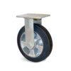 Roulette à platine – 270 à 550 kg - à platine fixe, 50, 300, 150, 190, Roulette à platine acier, 138x110, 11, à billes, 105x80