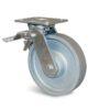 Roulette à platine – 450 à 600 kg - à platine pivotante à double blocage, 40, 600, 125, 165, 40, 138x110, 11, à billes, 105x80