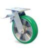 Roulette à platine – 350 à 600 kg - à platine pivotante à simple blocage, 50, 350, 100, 143, 35, 138x110, 11, à billes, 105x80