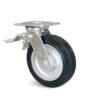 Roulette à platine – 200 à 400 kg - à platine pivotante à simple blocage, 50, 200, 125, 165, 40, 138x110, 11, à billes, 105x80
