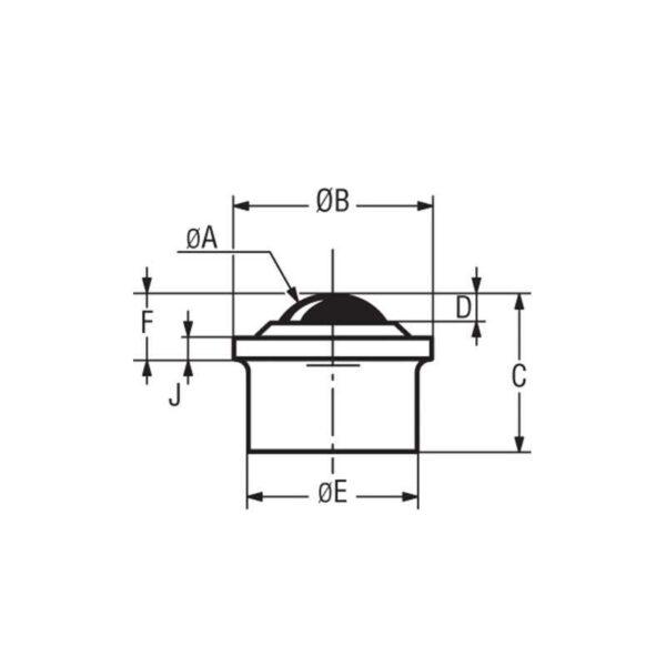 Billes à socle cylindrique épaulé – de 10 à 55 kg