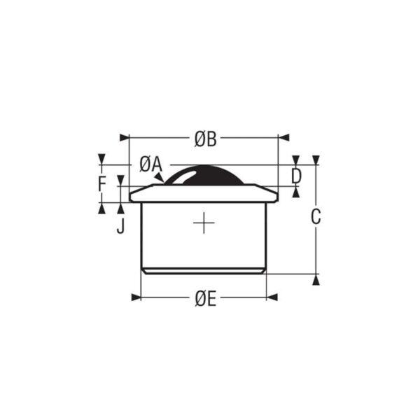 Billes à socle cylindrique – de 12 à 1500 kg