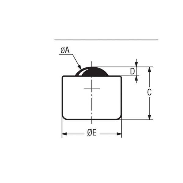 Billes à socle cylindrique – de 10 à 100 kg