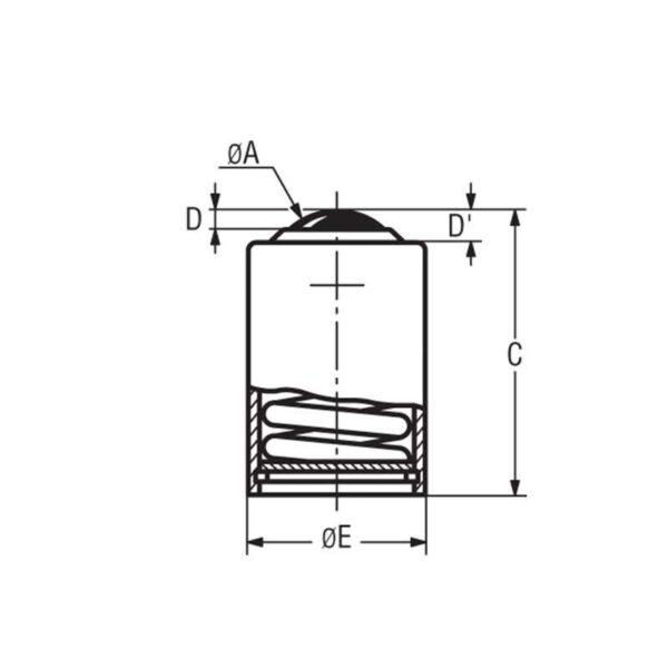 Billes à socle cylindrique avec déflecteur – de 10 à 190 kg
