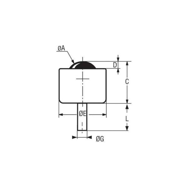 Mini billes à tige filetée – de 5 à 70 kg
