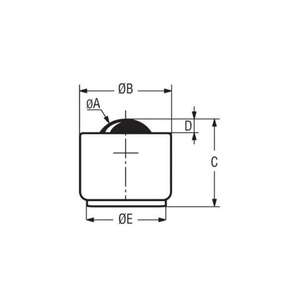 Billes à socle cylindrique – de 20 à 50 kg