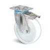 Roulette à platine – 700 kg - à platine pivotante à double blocage, 45, 700, 125, 164, 61, 132x110, 12, 105x80, lisse