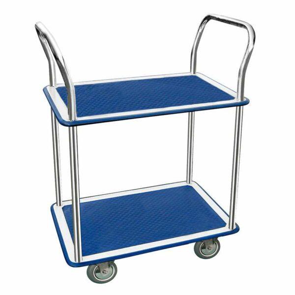 Chariot 2 plateaux tôle emboutie - Charge 200 kg