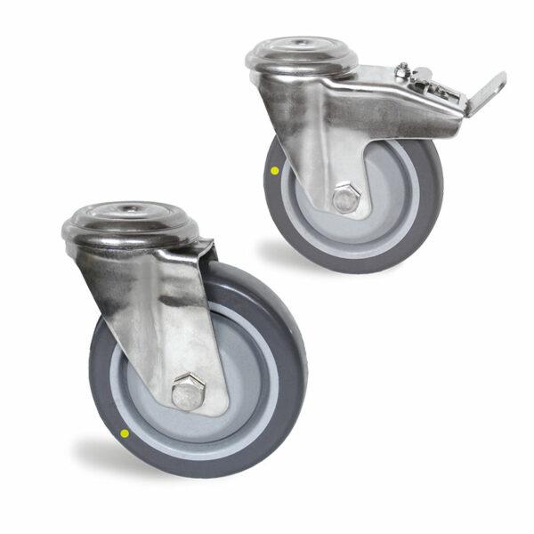 Roulette Conductrice à Trou central - de 120 à 300kg