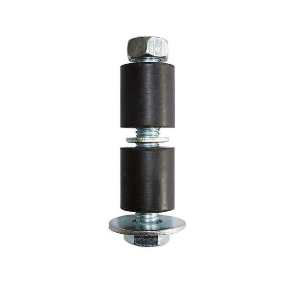 Fixations élastomère pour tubes ronds