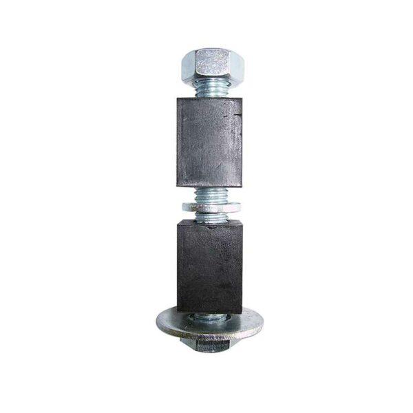 Fixations élastomère pour tubes carrés