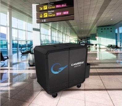 Chariot de nettoyage aeroports